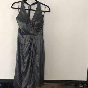 Vera Wang The Dress metallic gray size 2